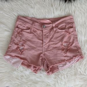 Pants - Distressed Cut Off Jean Shorts